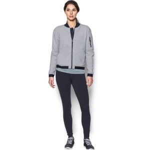 Under Armour Gray & Black UA Luster Bomber Jacket
